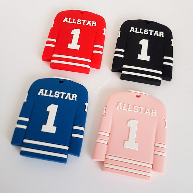 Allstar Hockey Jersey Silicone Teether