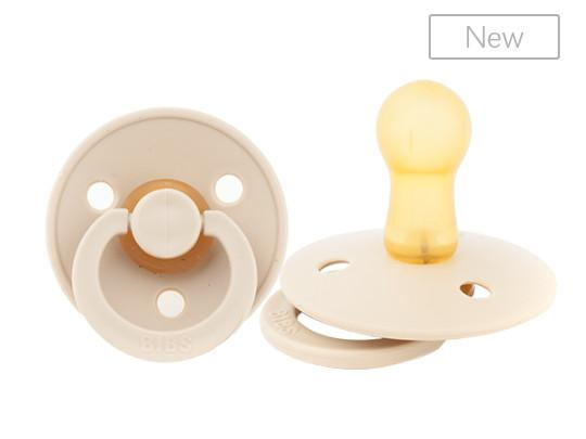 BIBS brand natural rubber pacifier for soothing babies
