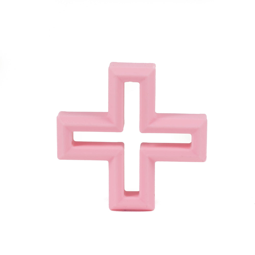 Swiss Cross Silicone Teether - Chomp Chew Bead Designs - Wholesale Silicone Beads for Teething and DIY Chewelry Making