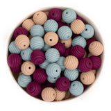 Beehive 15mm Silicone Beads