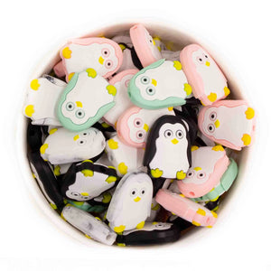 Mini Penguin Silicone Beads