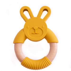 Bunny Silicone Beech Wood Teether