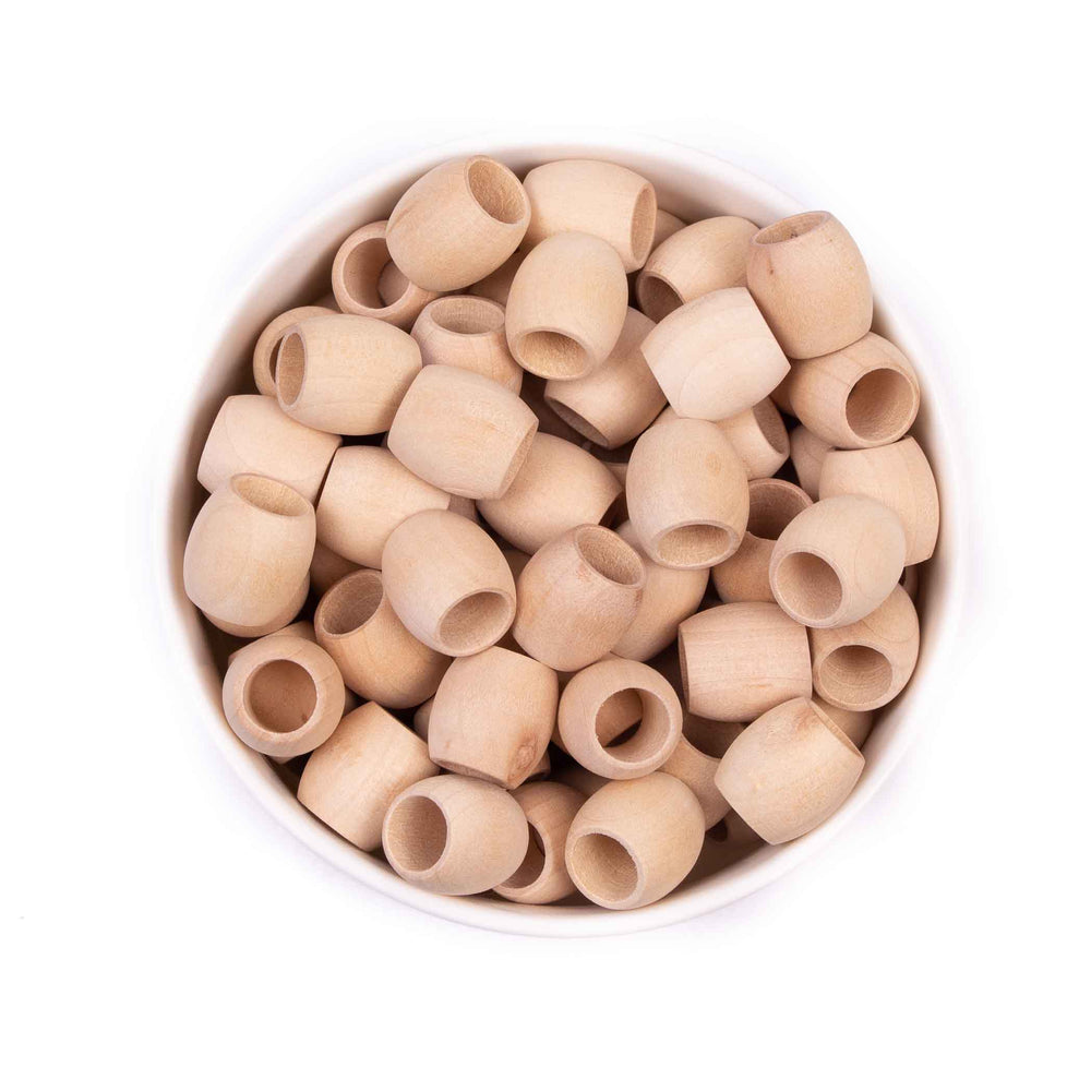 Natural Wood Barrel Beads