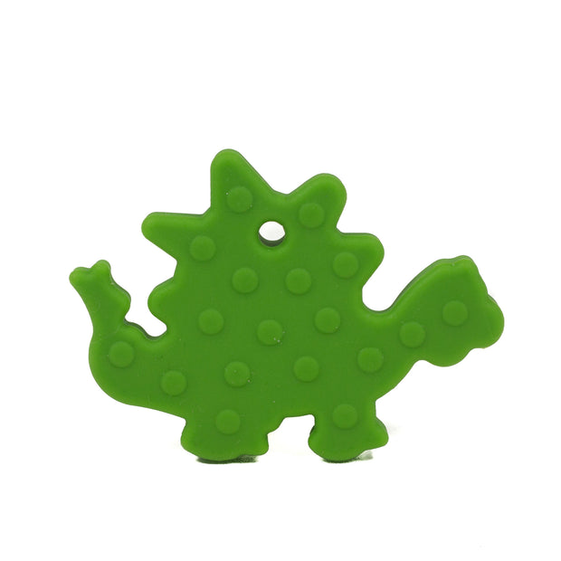 Dinosaur Silicone Teether - Chomp Chew Bead Designs - Wholesale Silicone Beads for Teething and DIY Chewelry Making