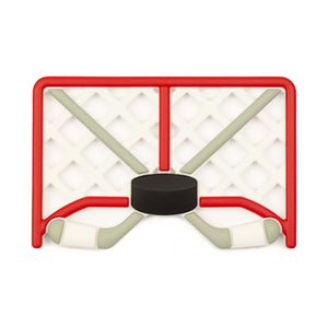 Hockey Net Silicone Teether