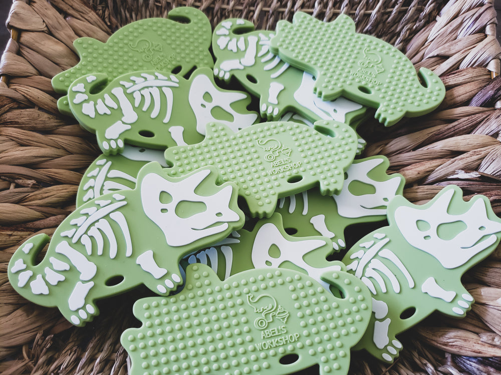 Frankie Fossil Triceratops Silicone Teether