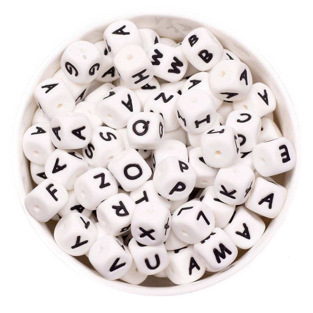 Alphabet Letter Beads 12mm Capitals