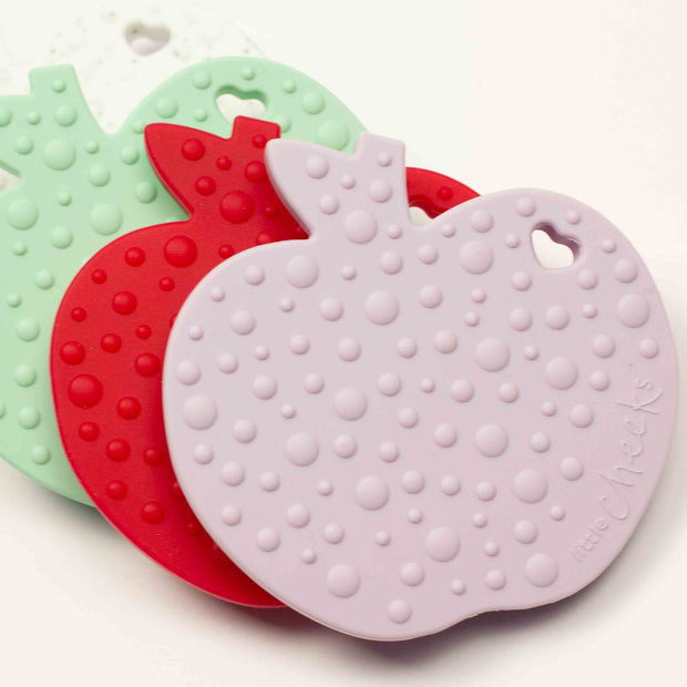 Cheeky Apple Silicone Teether