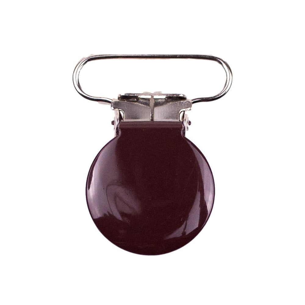 brown enamel coated metal pacifier clip