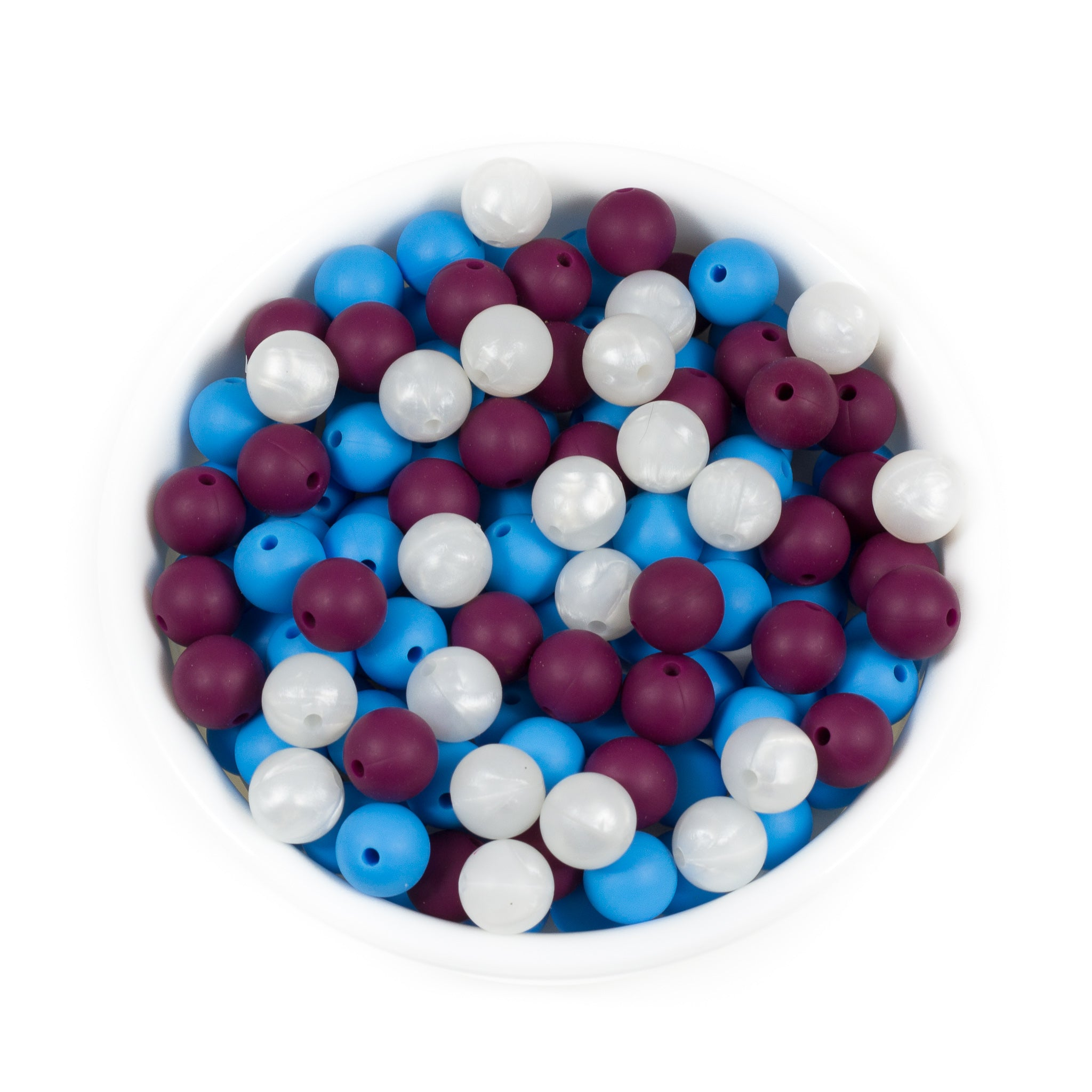 Round 12mm - Chomp Chew Bead Designs - Wholesale Silicone Beads for Teething and DIY Chewelry Making
