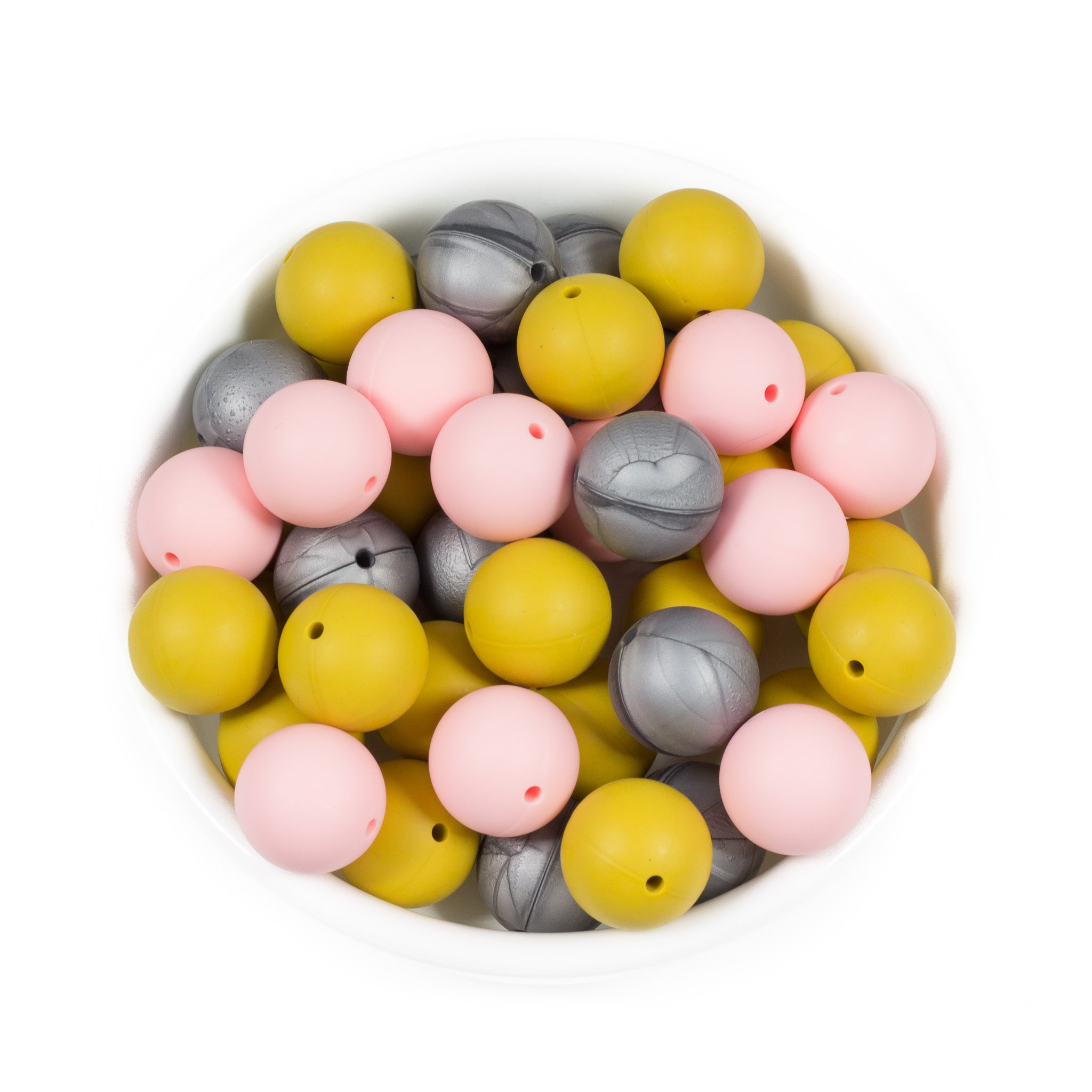 Round 19mm - Chomp Chew Bead Designs - Wholesale Silicone Beads for Teething and DIY Chewelry Making