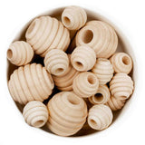 Beehive Natural Wood Beads