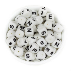 Alphabet Letter Beads 15mm - Chomp Chew Bead Designs - Wholesale Silicone Beads for Teething and DIY Chewelry Making