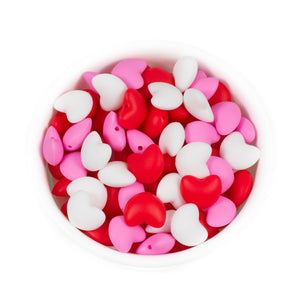 Hearts - Chomp Chew Bead Designs - Wholesale Silicone Beads for Teething and DIY Chewelry Making
