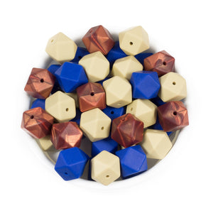 Hexagon 17mm - Chomp Chew Bead Designs - Wholesale Silicone Beads for Teething and DIY Chewelry Making