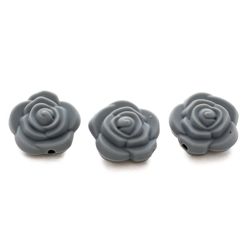 Mini Rose Flowers - Chomp Chew Bead Designs - Wholesale Silicone Beads for Teething and DIY Chewelry Making
