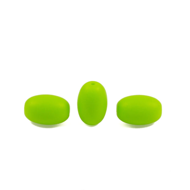 Oval Seeds - Chomp Chew Bead Designs - Wholesale Silicone Beads for Teething and DIY Chewelry Making