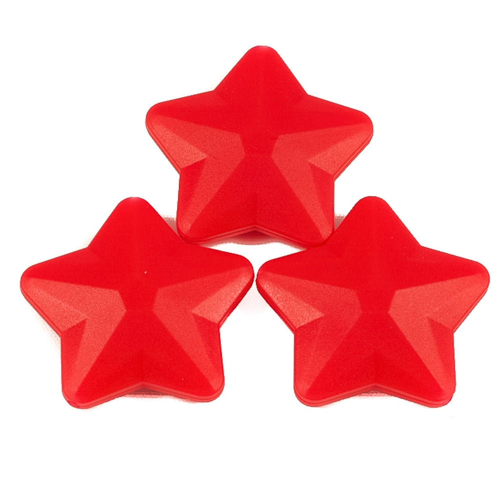 Stars Faceted - Chomp Chew Bead Designs - Wholesale Silicone Beads for Teething and DIY Chewelry Making