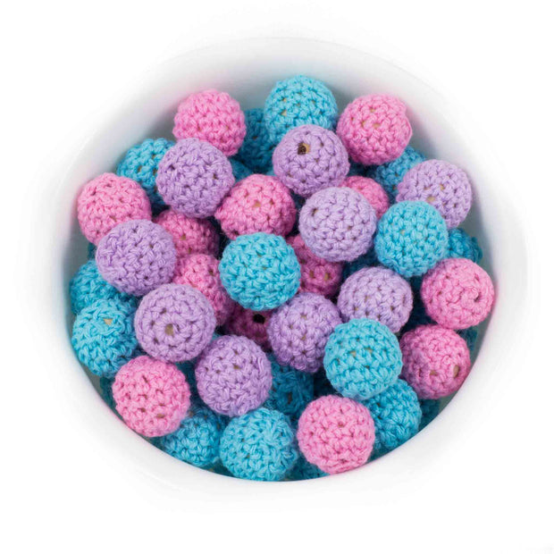 Crochet Round 16mm - Chomp Chew Bead Designs - Wholesale Silicone Beads for Teething and DIY Chewelry Making