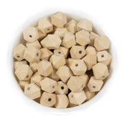 Hexagon Wood Teething Beads - Chomp Chew Bead Designs - Wholesale Silicone Beads for Teething and DIY Chewelry Making