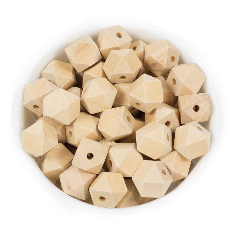 Hexagon Natural Wood Beads