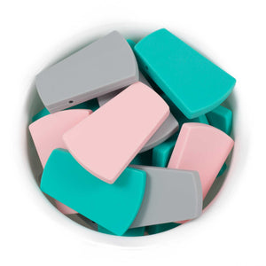 Trapezoid - Chomp Chew Bead Designs - Wholesale Silicone Beads for Teething and DIY Chewelry Making