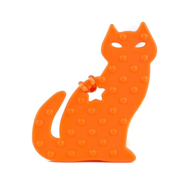 Cat Silicone Teether - Chomp Chew Bead Designs - Wholesale Silicone Beads for Teething and DIY Chewelry Making