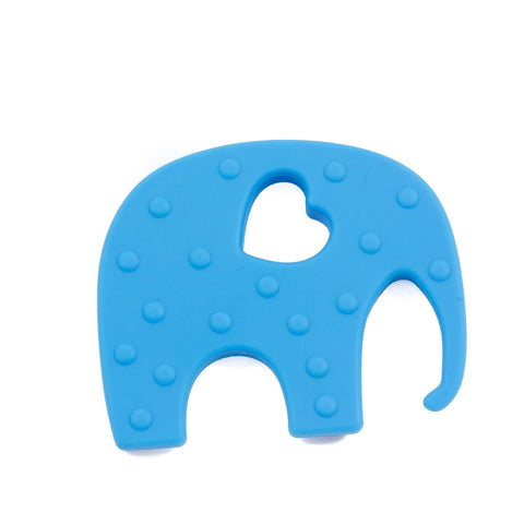 Ellie the Elephant Silicone Teether - Chomp Chew Bead Designs - Wholesale Silicone Beads for Teething and DIY Chewelry Making