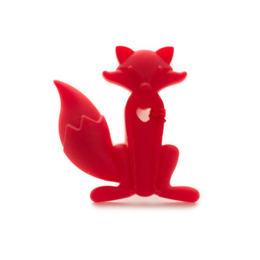 Fox Silicone Teether - Chomp Chew Bead Designs - Wholesale Silicone Beads for Teething and DIY Chewelry Making