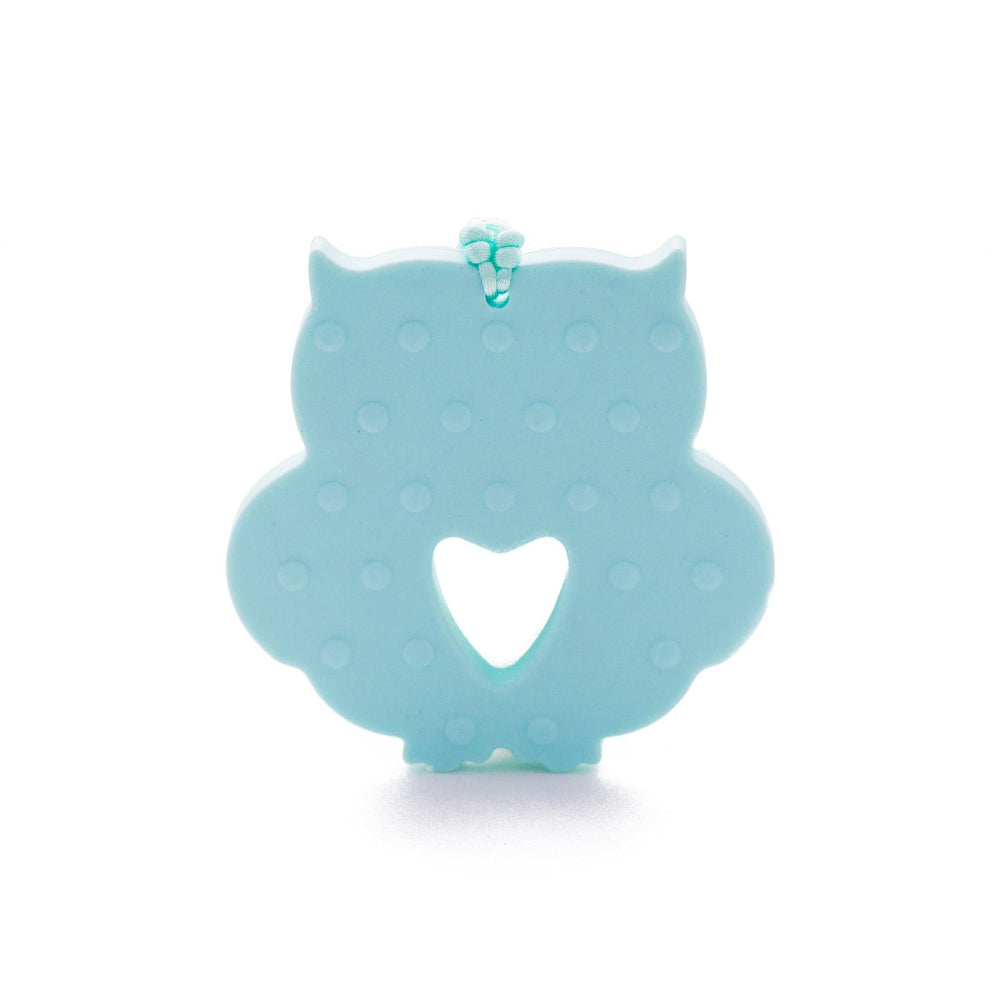 Owl Silicone Teether - Chomp Chew Bead Designs - Wholesale Silicone Beads for Teething and DIY Chewelry Making