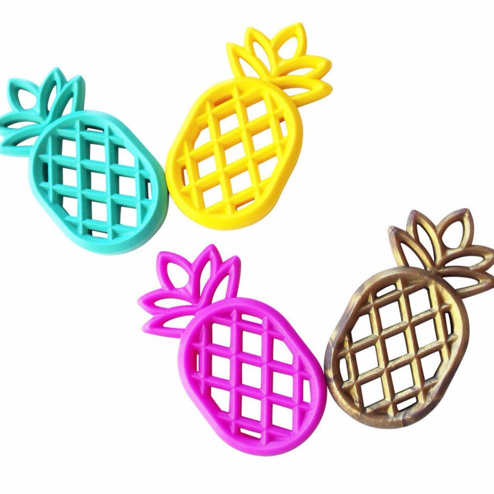 Pineapple Teether - Chomp Chew Bead Designs - Wholesale Silicone Beads for Teething and DIY Chewelry Making