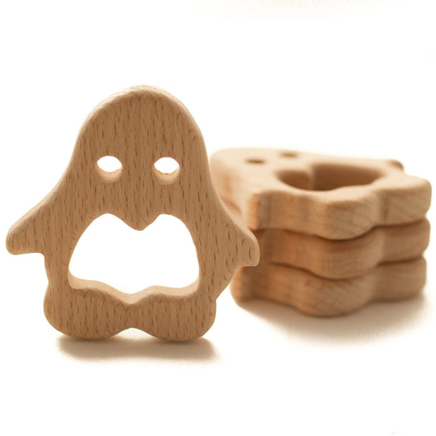 Small Beech Wood Teether Shapes - Chomp Chew Bead Designs - Wholesale Silicone Beads for Teething and DIY Chewelry Making
