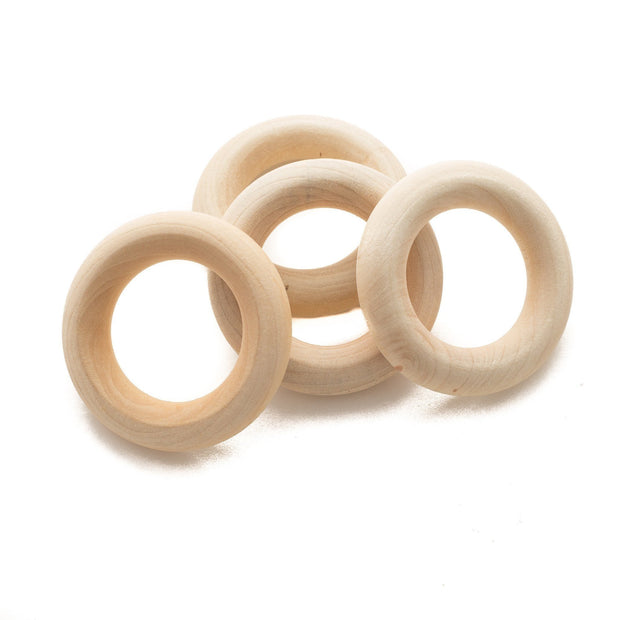Wholesale wooden maple teething rings with a diameter of 1.75""