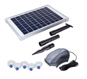 Solariver Solar Pond Aerator, DC Air Pump, 10 Watt Solar Panel, 5 Air Stones