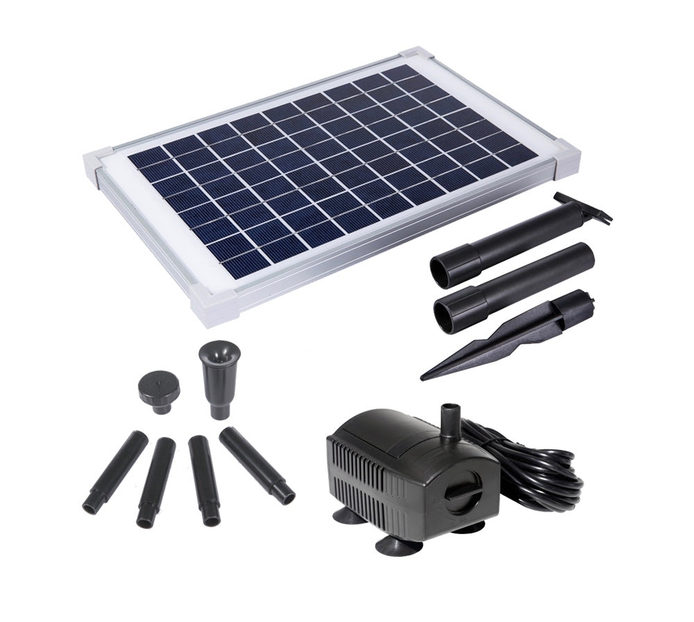 Solariver Solar Water Pump Kit 160+ GPH with 12v Submersible Water Pump and 12 Watt Solar Panel