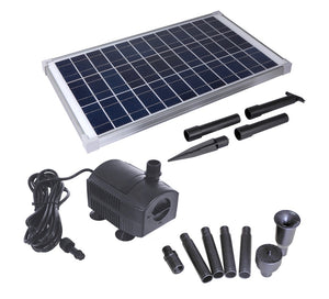Solariver Solar Water Pump Kit 360+ GPH with 12v Brushless Submersible Water Pump and 20 Watt Solar Panel