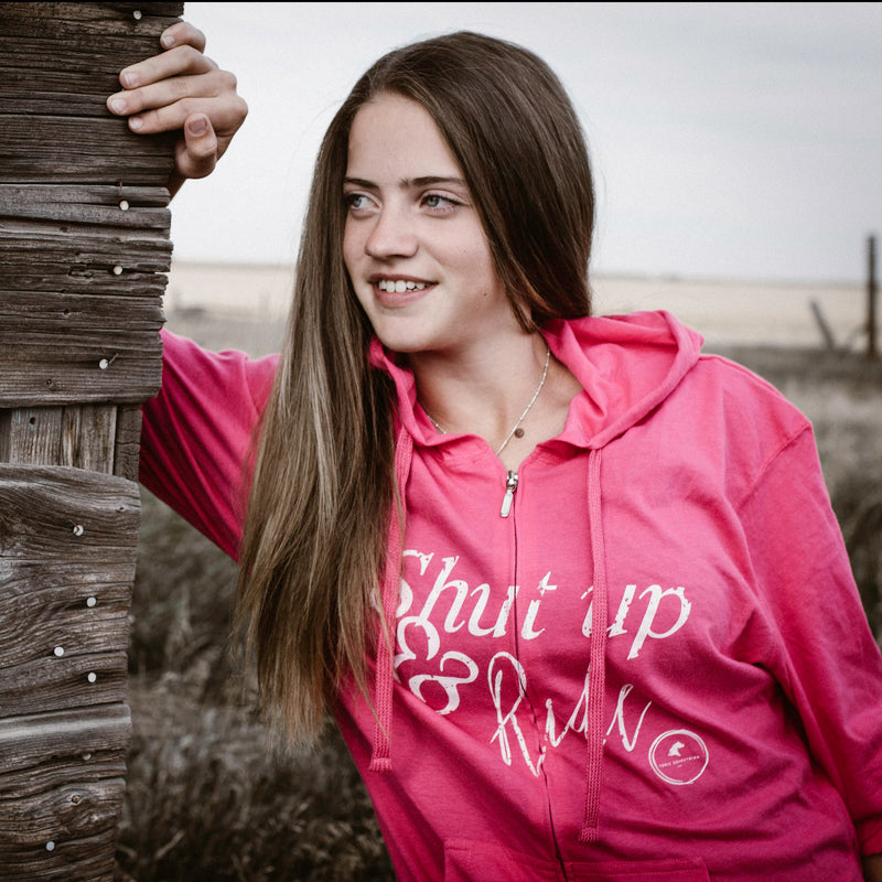 Shut Up & Ride Hoodie - Pink