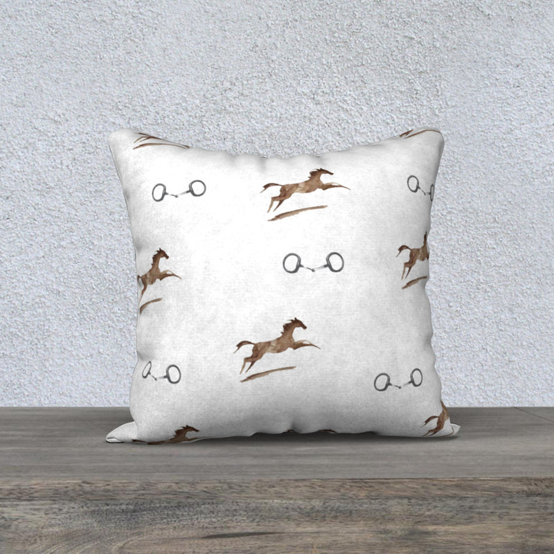 On The Hunt Pillowcase -  Ivory