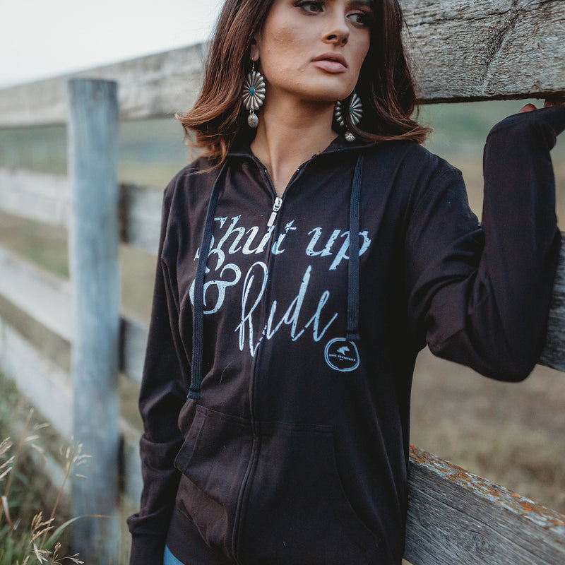 Shut Up & Ride Hoodie - Black