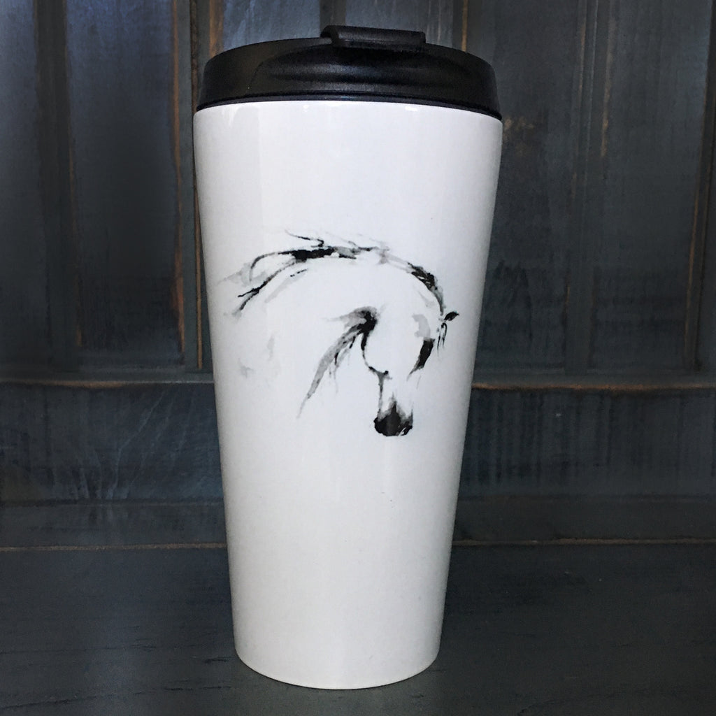 Watercolour Horse Travel Mug