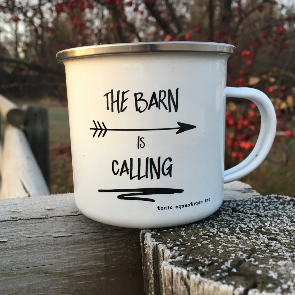 The Barn is Calling Enamel Mug