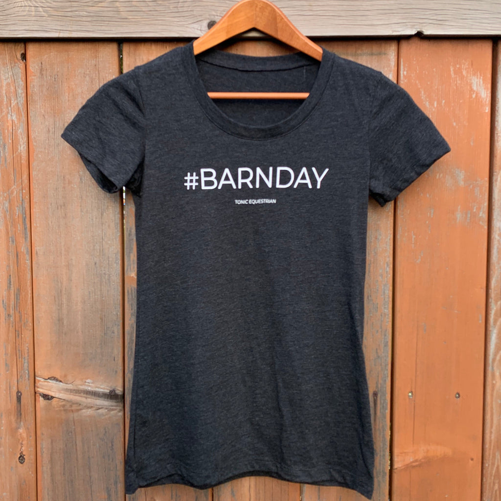 #BARNDAY Ladies Fitted Tee-Grey