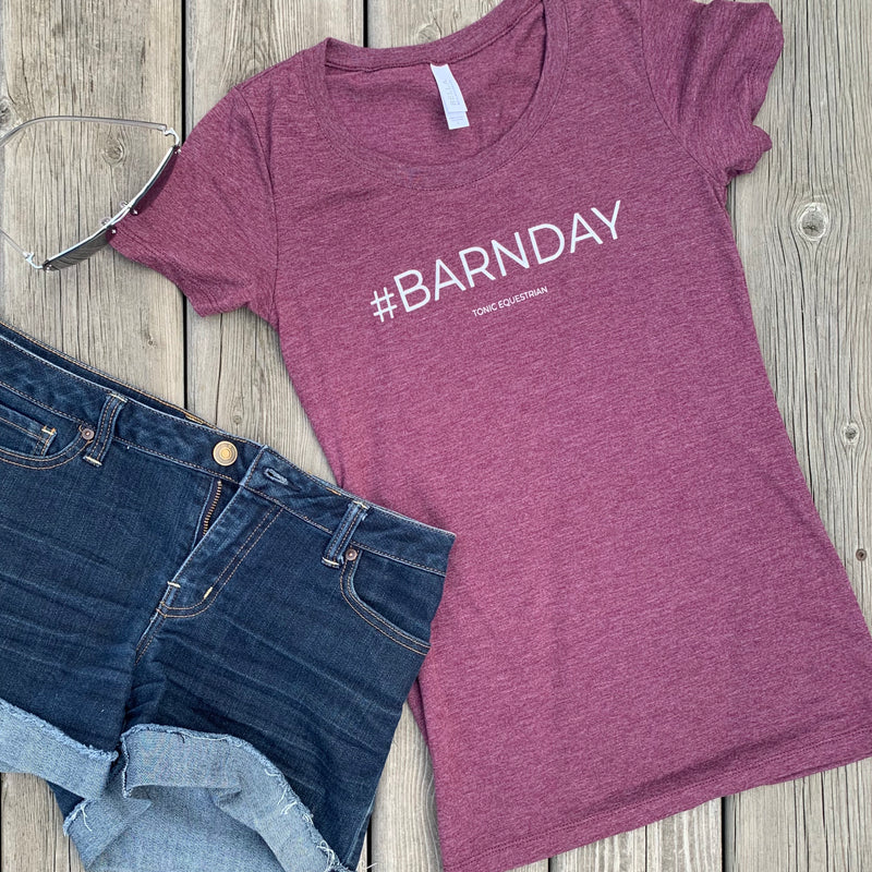 #BARNDAY Ladies Fitted tee - Rustic red