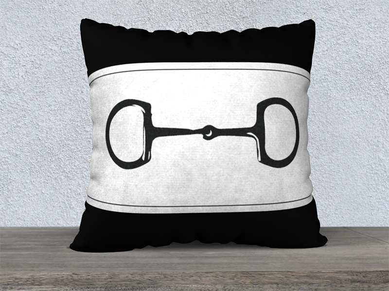 Snaffle Bit Pillowcase