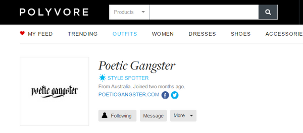 Follow Poetic Gangster on Polyvore