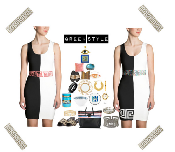 Greek Key dress Polyvore | Poetic Gangster