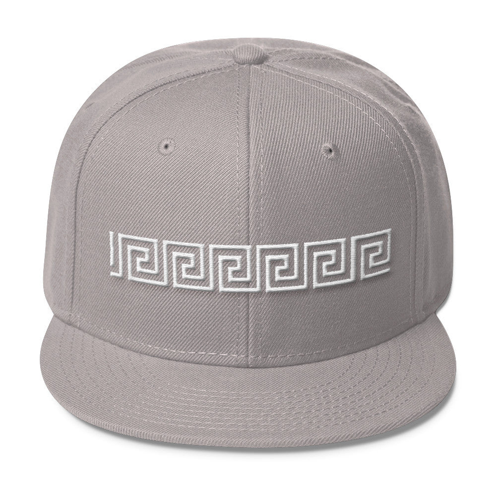 Greek Key Blend Snapback - Poetic Gangster