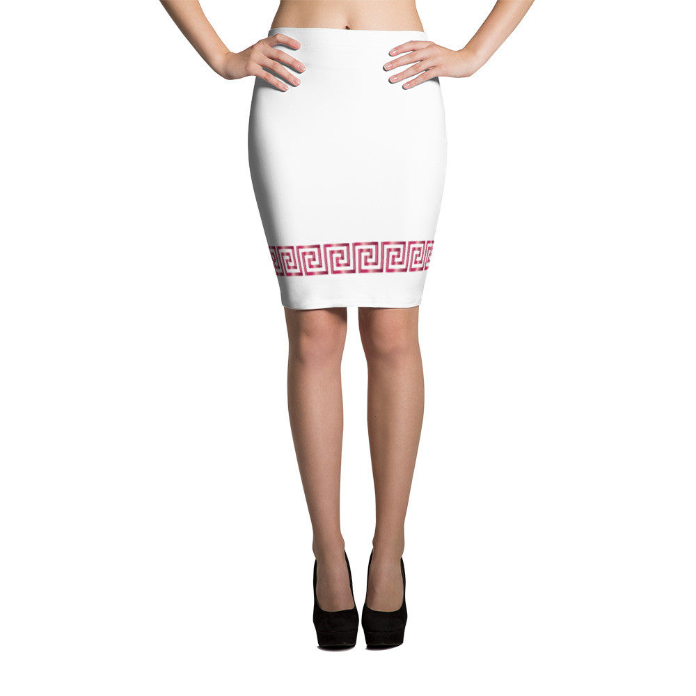 RED MARBLE pencil skirt - Poetic Gangster