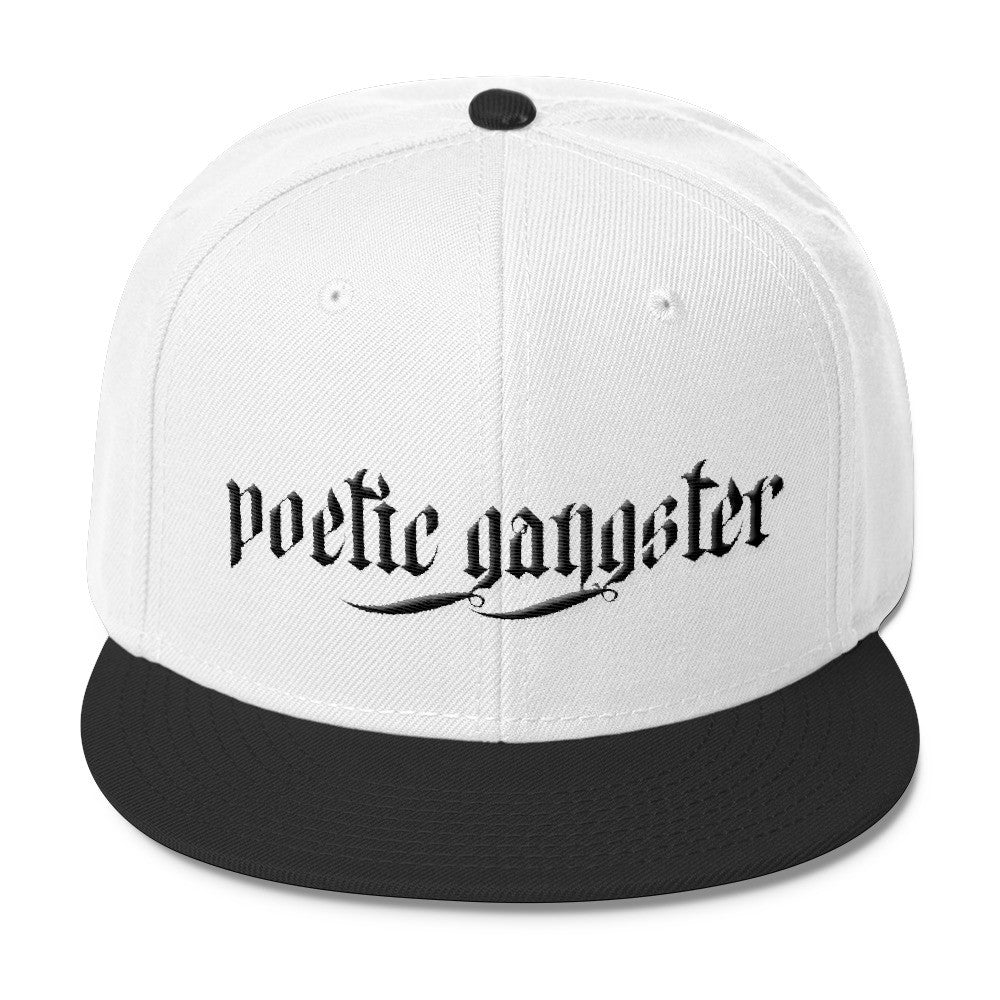 Black and White Poetic Gangster Blend Snapback - Poetic Gangster