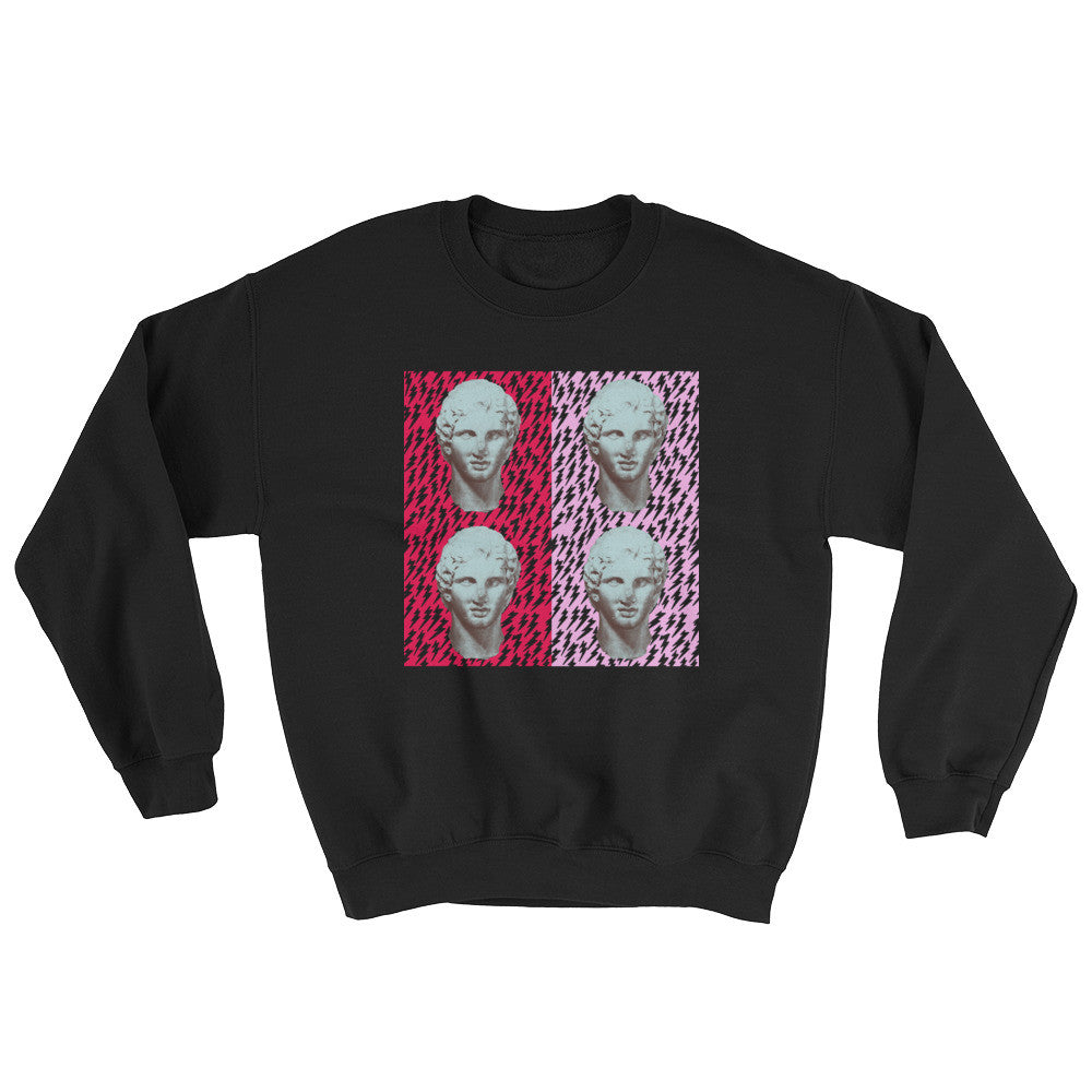 Mirror Caesar Black Sweater - Poetic Gangster
